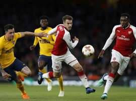 Aaron Ramsey could leave Arsenal at the end of the season. AFP