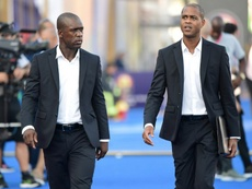 Seedorf and his assistant Kluivert have been dismissed after the AFCON failure. AFP