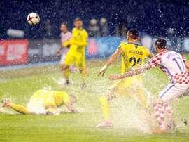 Croatia qualifier abandoned after heavy rain. AFP