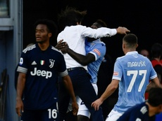 Lazio earned a point. AFP