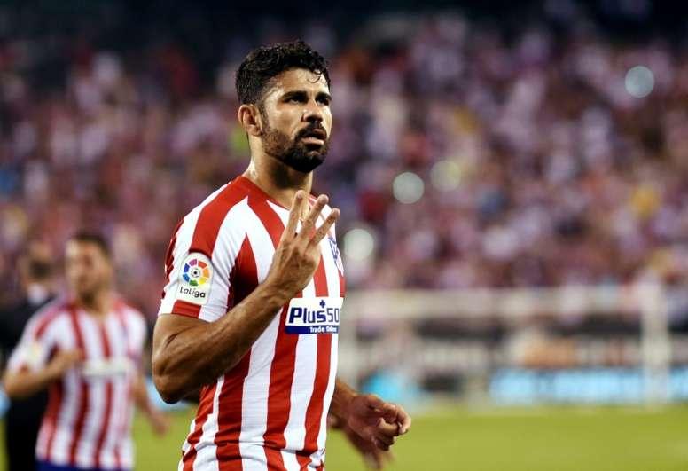 Diego Costa a quitté ses partenaires avant la fin du match. AFP