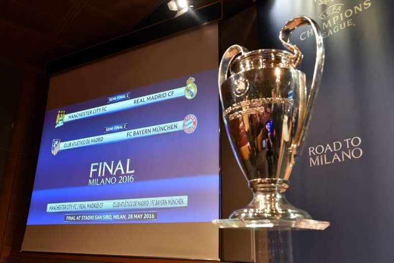 La Champions es el 'producto' estrella de la UEFA. AFP
