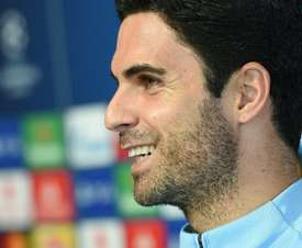 Mikel Arteta held Manchester City's press conference on Tuesday ahead of their match with Lyon. AFP