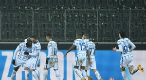 Romelu Lukaku's double gave Inter Milan a 2-3 win at Gladbach. AFP