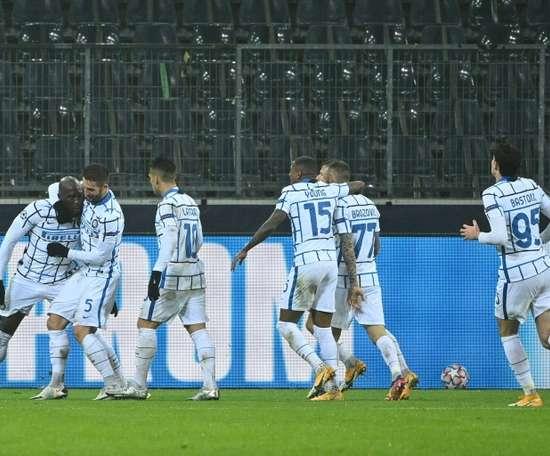 Romelu Lukaku's double gave Inter Milan a 2-3 win at Gladbach. AFP