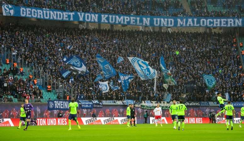 Schalke could only manage a goalless draw with RB Leipzig. AFP