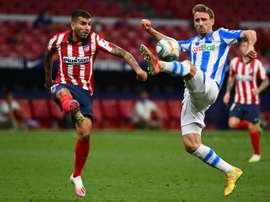 Angel Correa et Sime Vrsaljko sont les deux cas positifs au COVID-19 de l'Atlético. afp