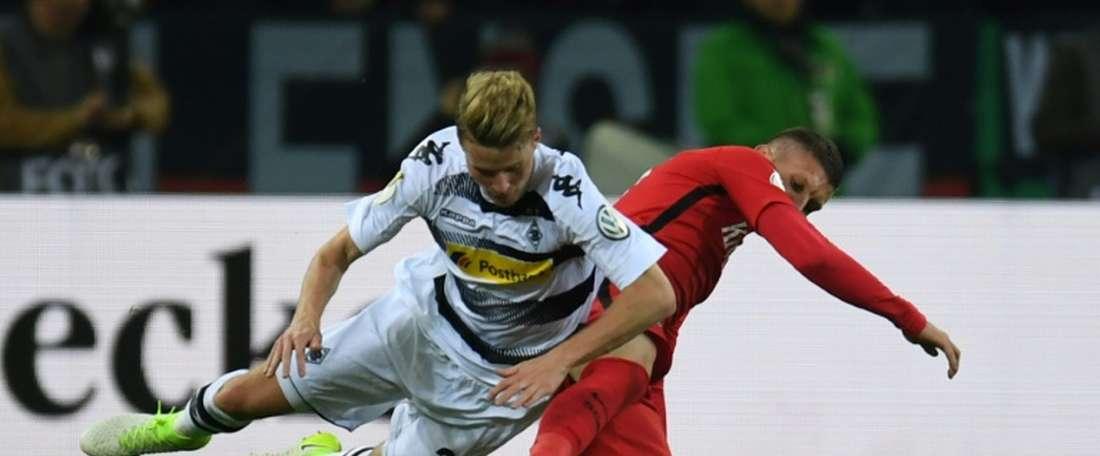 El Eintracht ha alcanzado la final con gran sufrimiento. AFP