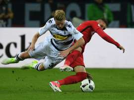 Frankfurts forward Branimir Hrgota and Moenchengladbachs defender Nico Elvedi