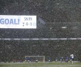 Llorente fez um 'hat-trick' em Wembley. Captura/ESPN