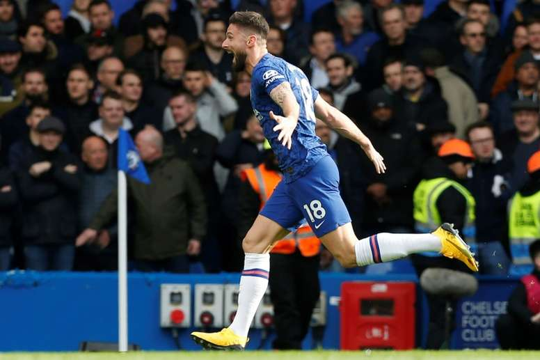 Olivier Giroud is starting for Chelsea for the second match running. AFP