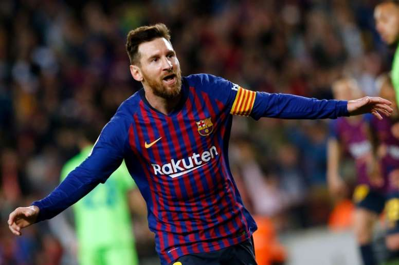 Messi will give a press conference before the Copa del Rey final. AFP
