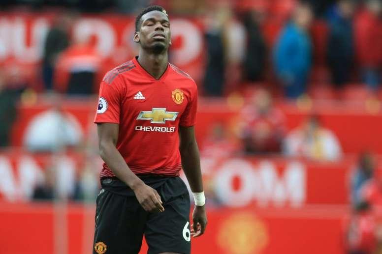 El United volvió al trabajo sin Paul Pogba. AFP
