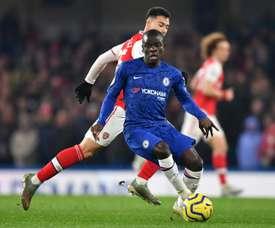 O Chelsea desmente a briga entre Lampard e Kanté. AFP