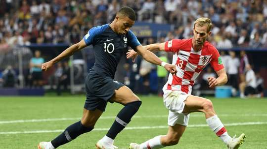 Heart scare: Croatia defender Ivan Strinic in action in the World Cup final. AFP