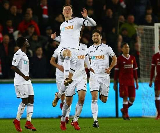 Swansea surprend les 'Gunners'. AFP