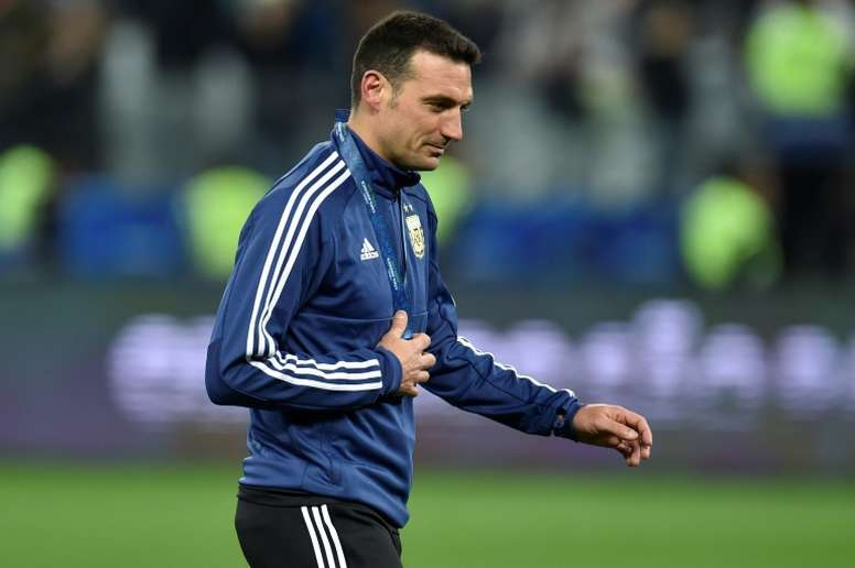 Scaloni was delighted with his sides fighting spiriti against Germany. AFP