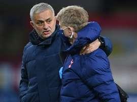 Mourinho dismisses talk of Tottenham as title contenders. AFP