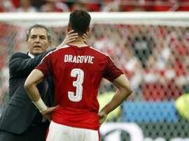 Aleksandar Dragovic aparece en la agenda del Sevilla. AFP/Archivo