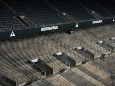 Moenchengladbach could have cardboard cut outs as fans. AFP