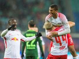 El Leipzig sueña con clasificarse para la Champions. AFP