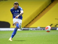 Leicester midfielder James Maddison has signed a new contract. AFP