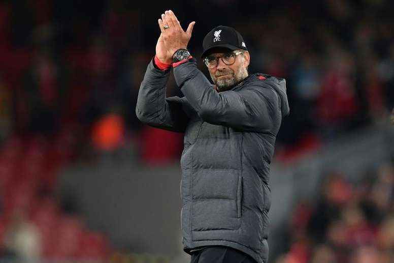 Jürgen Klopp não poupou elogios a Pep Guardiola. AFP
