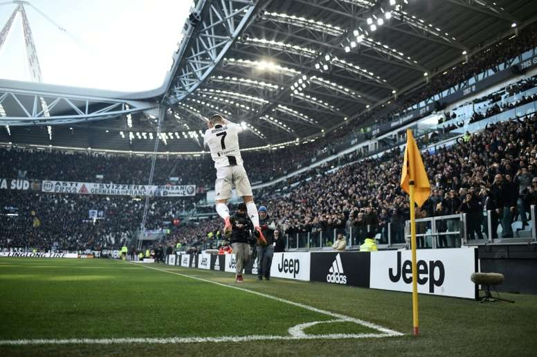 Cristiano Ronaldo scored the 100th goal this season for Juventus in all competitions. AFP