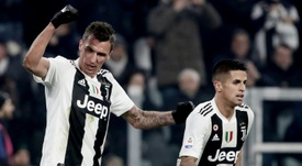 Mario Mandzukic was the match winner for the hosts. AFP