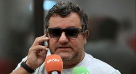 Raiola siguió con el cruce de palabras con Solskajer. AFP