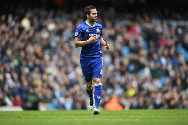 Fabregas made a rare start against Manchester City. AFP