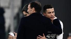 Cristiano ne voulait pas qu'Allegri reste. AFP