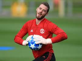 De Gea insists he is focusing on football rather than his contract situation. AFP