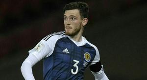 Robertson is Scotland's star man. AFP