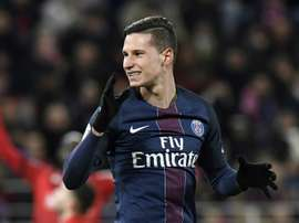 Draxler viu Cristiano Ronaldo marcar um 'hat-trick'. AFP