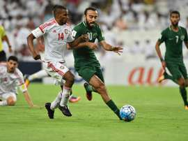 UAE beat Saudi Arabia on Tuesday. AFP