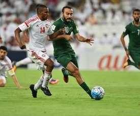 UAE beat Saudi Arabia on Tuesday. AFP