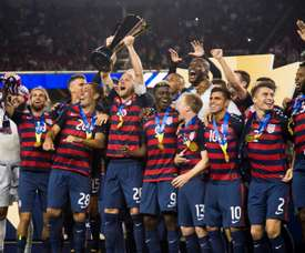 The trophy is the US' sixth Gold Cup triumph. AFP