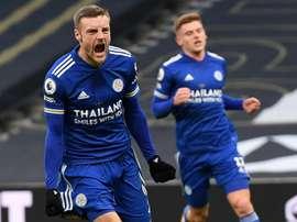 Bonne nouvelle pour Jamie Vardy et Leicester. AFP