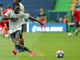 Bertrand Traore has completed his move to Aston Villa from Lyon. AFP