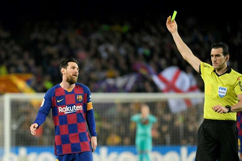 Messi has shown he is ready to put the boot in at Barca