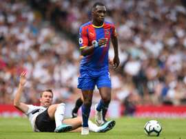 Christian Benteke is on the road to recovery. AFP