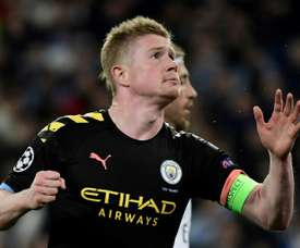 De Bruyne would be willing ot renew at City. AFP