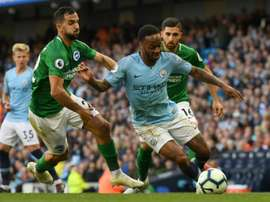 Raheem Sterling on the attack for Manchester City. AFP