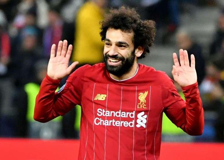 Salah passe devant Suarez dans le classement des buteurs de Liverpool. AFP