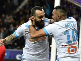 Mitroglou scored the winner against Toulouse. AFP