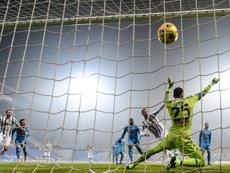 Ronaldo got his 760th goal in Juventus' 2-0 win over Napoli. AFP