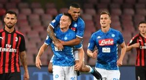Zielinski rinnoverà con il Napoli. AFP