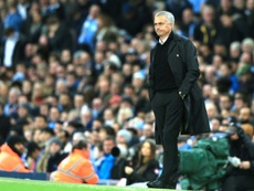 Mourinho's men were on the losing side in the derby. AFP