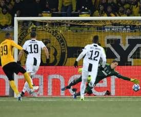 Hoarau scored twice against Juve. AFP
